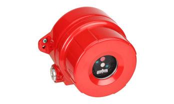 Detector de chama FS24X em aço inoxidável.