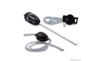 Kit de amostragem manual completo com sonda, mangueira, bomba de aspiração e adaptador.