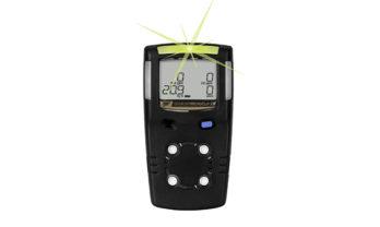 Detector de gás MicroClip X3 preto.