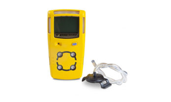 Detector de gá MicroClip X3 com mangueira para calibração.