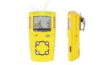 Detector de Gás GasAlert MicroClip XL, frente e lateral.