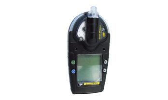 Detector de gás GasAlert Micro 5, na cor preta.