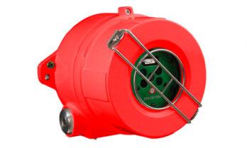 Detector de chamas FS20X em aço inoxidável.