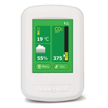 Monitor de qualidade do ar IAQPoint2 de frente.