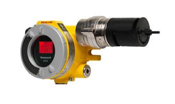 Detector de gás OELD com display vermelho.