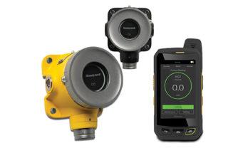 Detectores fixos de gás Sensepoint XRL, nos modelos amarelo e preto.