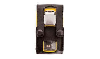 Parte de trás da capa de proteção em couro para o MicroClip Series.