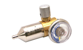 Válvula reguladora para cilindro de gás.