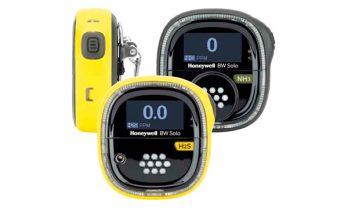 Detector monogás BW Solo na cor amarela e na cor preta.