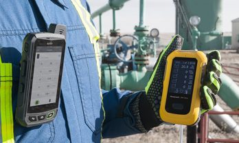 Detector de gás BW Ultra em uso.